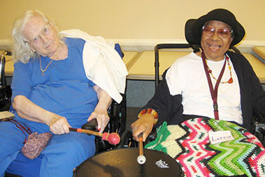 Two drummers at Washington Care Center
